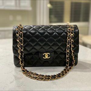 Chanel Classic Double Flap Jumbo Lambskin Bag